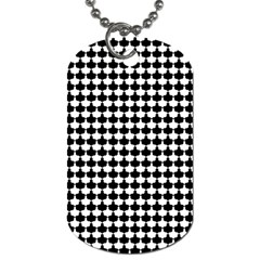 Black And White Scallop Repeat Pattern Dog Tag (two Sides) by PaperandFrill