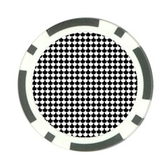 Black And White Scallop Repeat Pattern Poker Chip Card Guards by PaperandFrill
