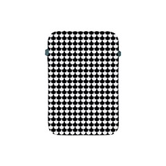 Black And White Scallop Repeat Pattern Apple iPad Mini Protective Soft Cases by PaperandFrill