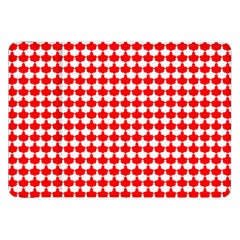 Red And White Scallop Repeat Pattern Samsung Galaxy Tab 8 9  P7300 Flip Case by PaperandFrill