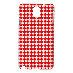 Red And White Scallop Repeat Pattern Samsung Galaxy Note 3 N9005 Hardshell Case by PaperandFrill
