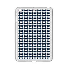Navy And White Scallop Repeat Pattern iPad Mini 2 Enamel Coated Cases by PaperandFrill