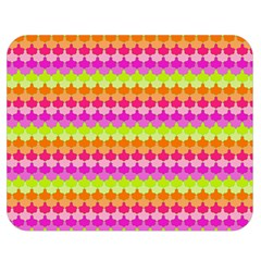 Scallop Pattern Repeat In 'la' Bright Colors Double Sided Flano Blanket (medium)  by PaperandFrill