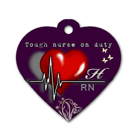 Rn By Hieu Phan   Dog Tag Heart (one Side)   Cr922ttozcrf   Www Artscow Com Front