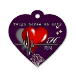 RN - Dog Tag Heart (One Side)