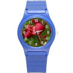 Lilium Red Velvet Round Plastic Sport Watch (s) by trendistuff