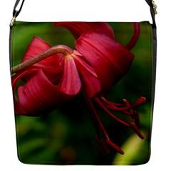 Lilium Red Velvet Flap Messenger Bag (s) by trendistuff