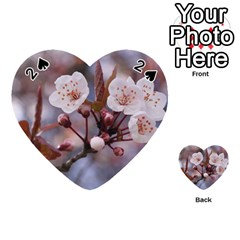 Cherry Blossoms Playing Cards 54 (heart)  by trendistuff