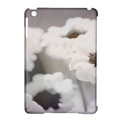 Black And White Flower Apple Ipad Mini Hardshell Case (compatible With Smart Cover) by trendistuff