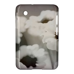 Black And White Flower Samsung Galaxy Tab 2 (7 ) P3100 Hardshell Case  by trendistuff