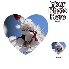 Apricot Blossoms Multi Purpose Cards (heart)  by trendistuff