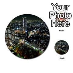 Tokyo Night Multi Purpose Cards (round)  by trendistuff