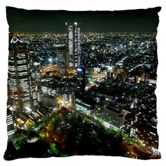 Tokyo Night Standard Flano Cushion Cases (two Sides)  by trendistuff