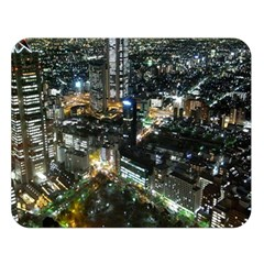 TOKYO NIGHT Double Sided Flano Blanket (Large)  by trendistuff