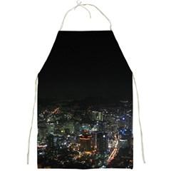 Seoul Night Lights Full Print Aprons by trendistuff