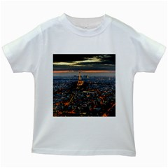 Paris From Above Kids White T Shirts by trendistuff