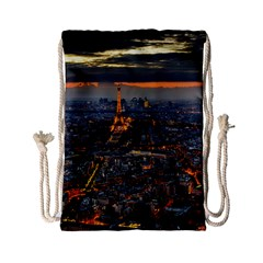 Paris From Above Drawstring Bag (small) by trendistuff
