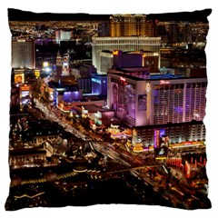 Las Vegas 2 Large Cushion Cases (two Sides)  by trendistuff