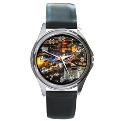 Las Vegas 1 Round Metal Watches by trendistuff