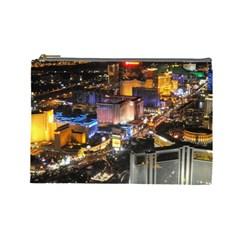 Las Vegas 1 Cosmetic Bag (large)  by trendistuff