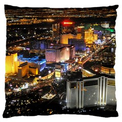 Las Vegas 1 Large Cushion Cases (two Sides)  by trendistuff