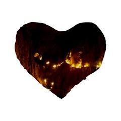 Skocjan Caves Standard 16  Premium Flano Heart Shape Cushions by trendistuff