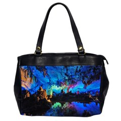 Reed Flute Caves 2 Office Handbags (2 Sides)  by trendistuff