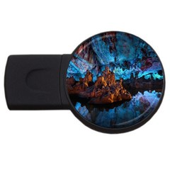 Reed Flute Caves 1 Usb Flash Drive Round (2 Gb)  by trendistuff