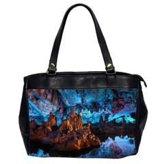 Reed Flute Caves 1 Office Handbags (2 Sides)  by trendistuff