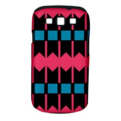 Rhombus And Stripes Patternsamsung Galaxy S Iii Classic Hardshell Case (pc+silicone) by LalyLauraFLM