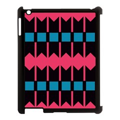 Rhombus And Stripes Pattern			apple Ipad 3/4 Case (black) by LalyLauraFLM