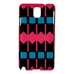 Rhombus And Stripes Patternsamsung Galaxy Note 3 N9005 Hardshell Case by LalyLauraFLM