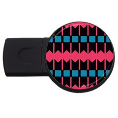 Rhombus And Stripes Pattern			usb Flash Drive Round (2 Gb) by LalyLauraFLM