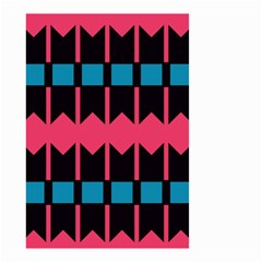 Rhombus And Stripes Pattern Small Garden Flag by LalyLauraFLM