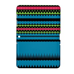 Chevrons and trianglesSamsung Galaxy Tab 2 (10.1 ) P5100 Hardshell Case by LalyLauraFLM