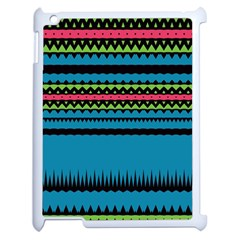 Chevrons And Triangles			apple Ipad 2 Case (white) by LalyLauraFLM