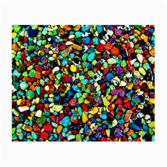 Colorful Stones, Nature Small Glasses Cloth (2 Side) by Costasonlineshop