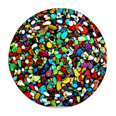 Colorful Stones, Nature Ornament (round Filigree)  by Costasonlineshop