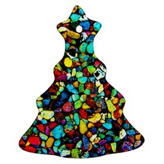 Colorful Stones, Nature Christmas Tree Ornament (2 Sides) by Costasonlineshop