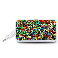 Colorful Stones, Nature Portable Speaker (White)  by Costasonlineshop