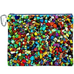 Colorful Stones, Nature Canvas Cosmetic Bag (XXXL)  by Costasonlineshop