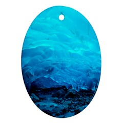 Mendenhall Ice Caves 3 Oval Ornament (two Sides) by trendistuff