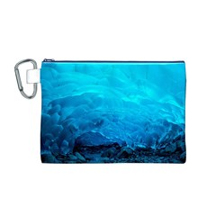 Mendenhall Ice Caves 3 Canvas Cosmetic Bag (m) by trendistuff