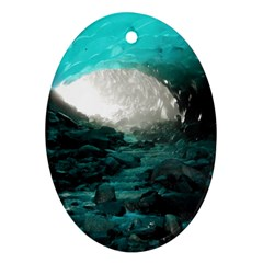 Mendenhall Ice Caves 2 Oval Ornament (two Sides) by trendistuff