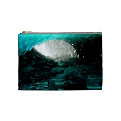 Mendenhall Ice Caves 2 Cosmetic Bag (medium)  by trendistuff