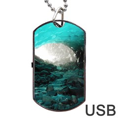 MENDENHALL ICE CAVES 2 Dog Tag USB Flash (One Side) by trendistuff