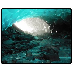 Mendenhall Ice Caves 2 Double Sided Fleece Blanket (medium)  by trendistuff