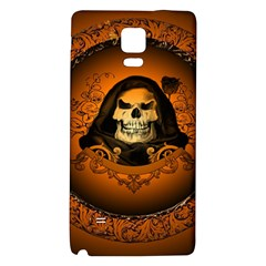 Awsome Skull With Roses And Floral Elements Galaxy Note 4 Back Case by FantasyWorld7