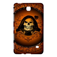 Awsome Skull With Roses And Floral Elements Samsung Galaxy Tab 4 (8 ) Hardshell Case  by FantasyWorld7