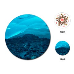 Mendenhall Ice Caves 1 Playing Cards (round)  by trendistuff